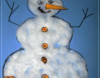 Omul de zăpadă – lucru manual