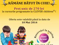 Profita acum de oferta exclusiva CLEVER Children – pret unic de 270 lei pentru orice curs!